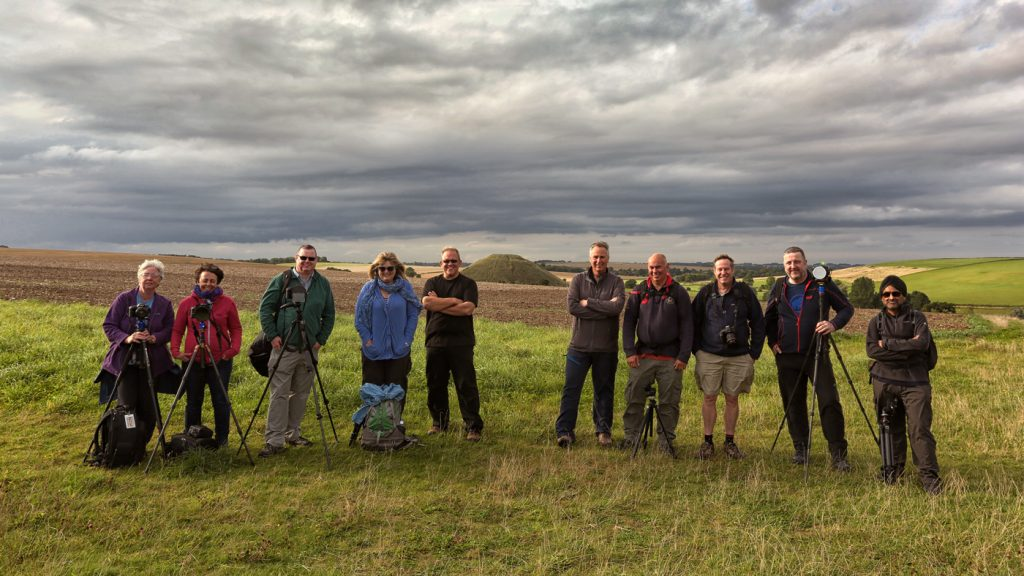 West Kennet Long Barrow Group Shot, Wiltshire