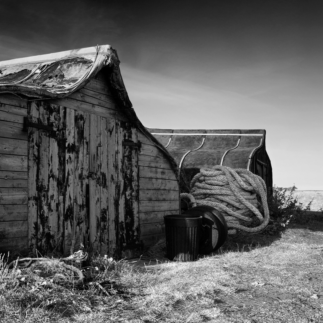 Boat Huts, Holy Island, Northumberland