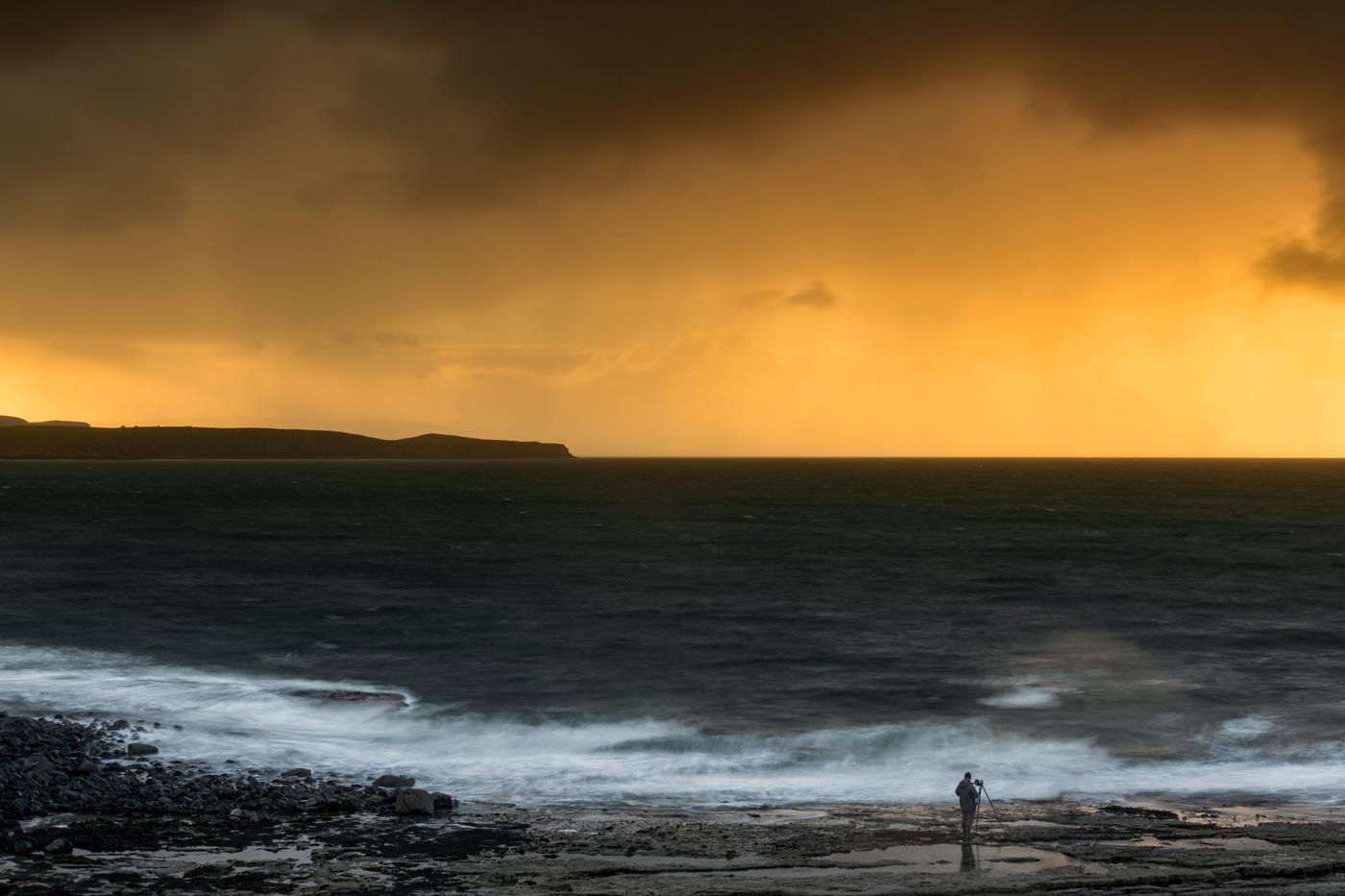 Sunset over Duntulm, Skye