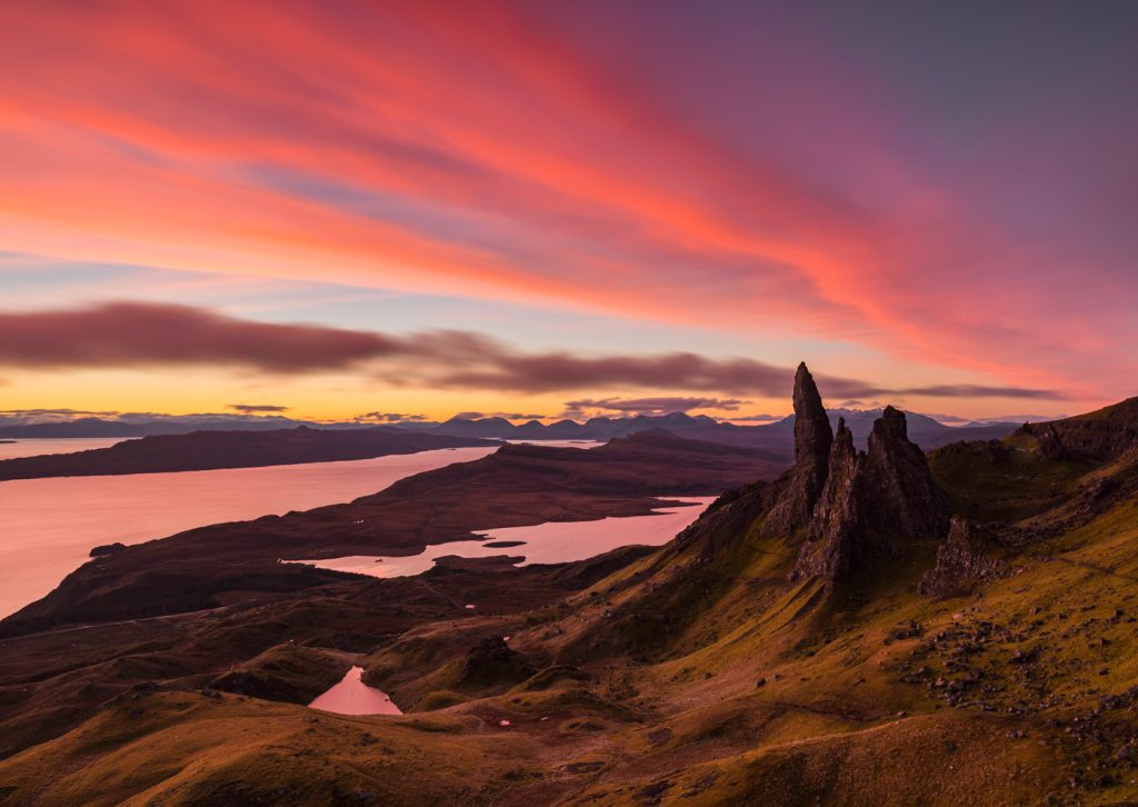 Sunrise, Old Man of Storr, Isle of Skye, Scotland