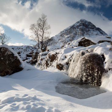 Frozen Waterfall, River Coupall, Buachaille Etive Mòr, Glencoe, Scotland