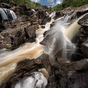 Glen Orchy Waterfalls, nr Glencoe, Scotland