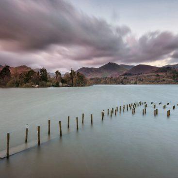 Submerged Wooden Piers, Derwentwater, Lake District