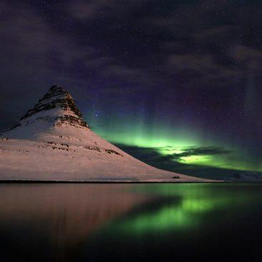 Aurora Borealis Over Kirkjufell, Iceland