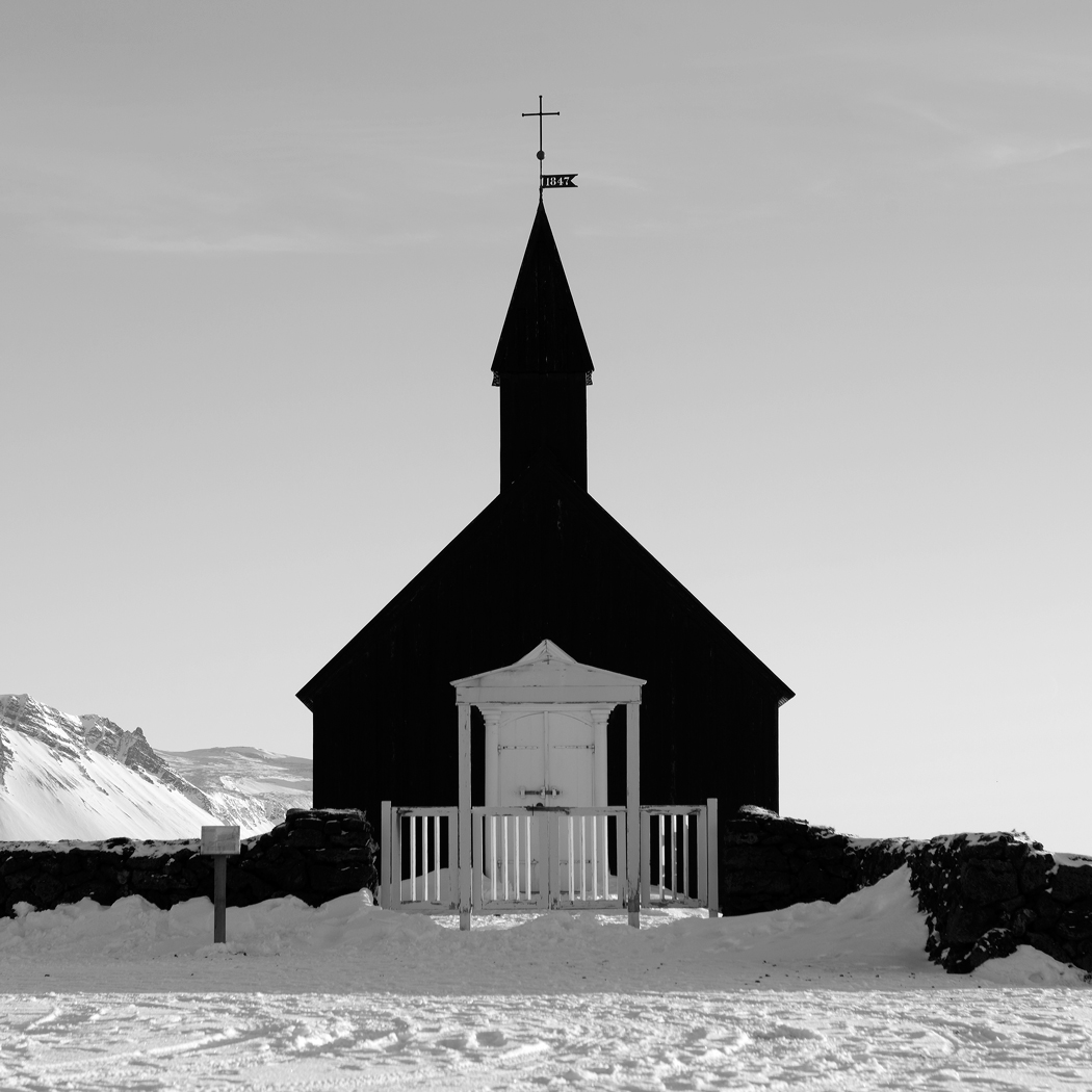 Buðir Church (Black Church), Snæfellsness Peninsular, Iceland