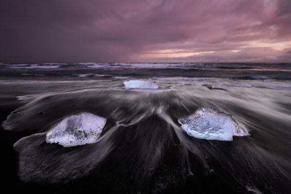 Ice Beach, Jökulsárlón, Iceland
