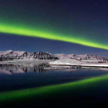 Aurora Borealis, Jökulsárlón Lagoon, Iceland