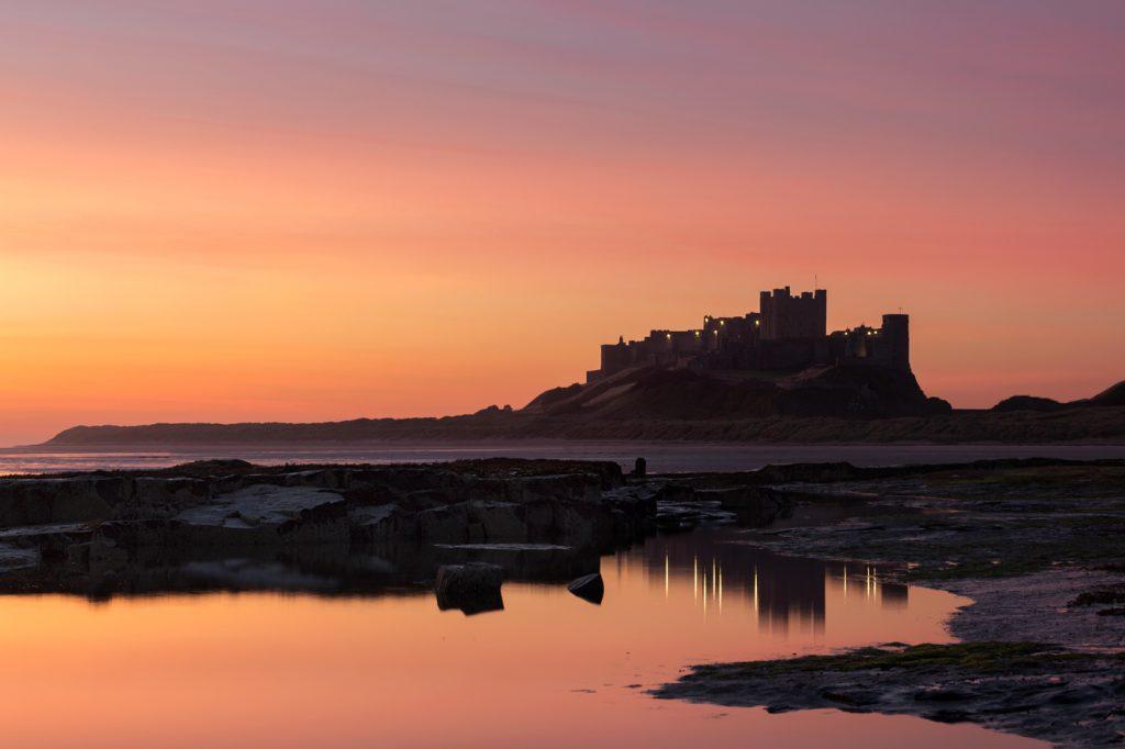 Sunrise, Bamburgh Castle, Northumberland