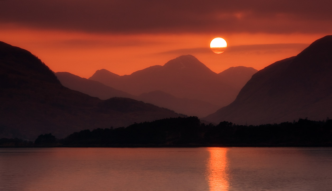 Sunset Over Sròn a' Chorra Bhuilg nr Fort William, Scotland