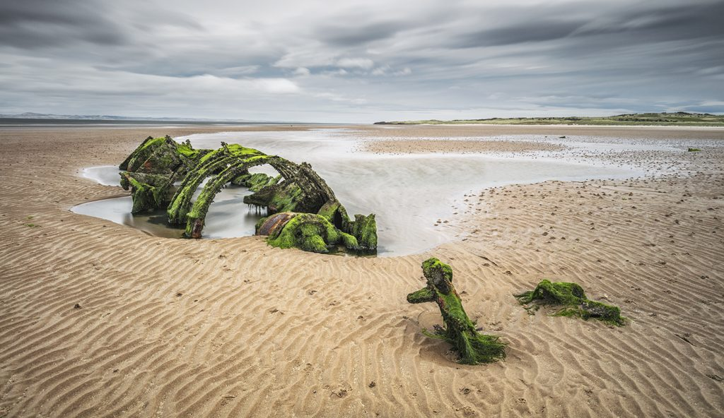 Wreckage of the XT Craft, Aberlady, East Lothian, Scotland