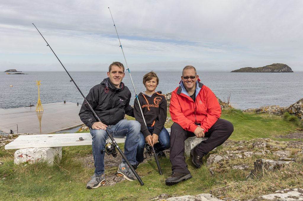 Jan, his son and me at North Berwick, East Lothian