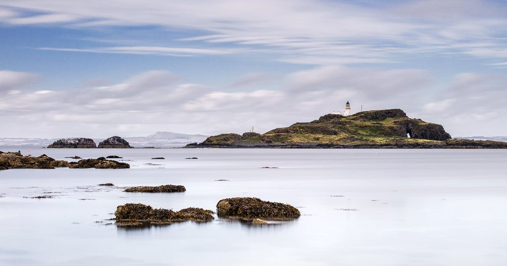 Fidra Lighthouse, East Lothian, Scotland