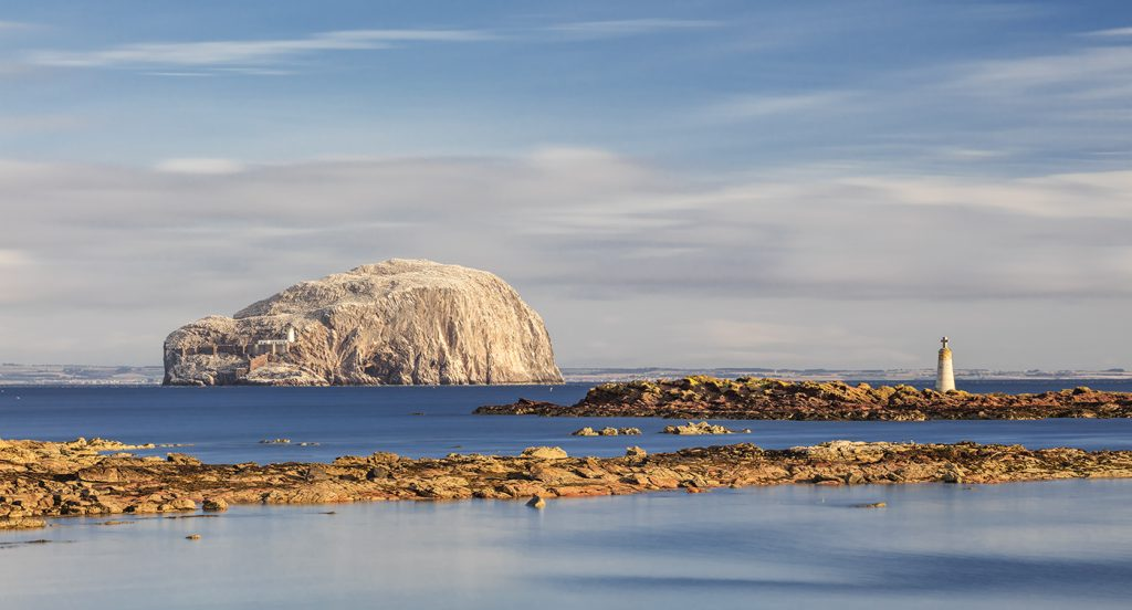 Bass Rock and South Carr Beacon, St Baldred's Rock, Seacliff, East Lothian