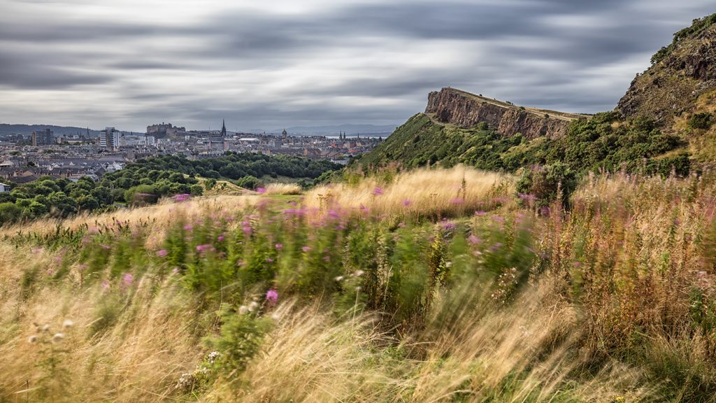 Arthur's Seat overlooking Edinburgh, Scotland