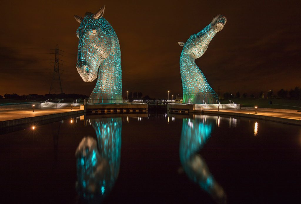 Andy Scott's The Kelpies, The Helix, Falkirk, Scotland