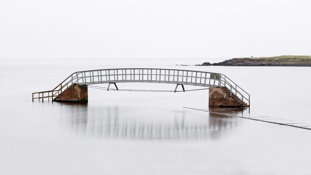 The bridge to nowhere at Belhaven, East Lothian, Scotland