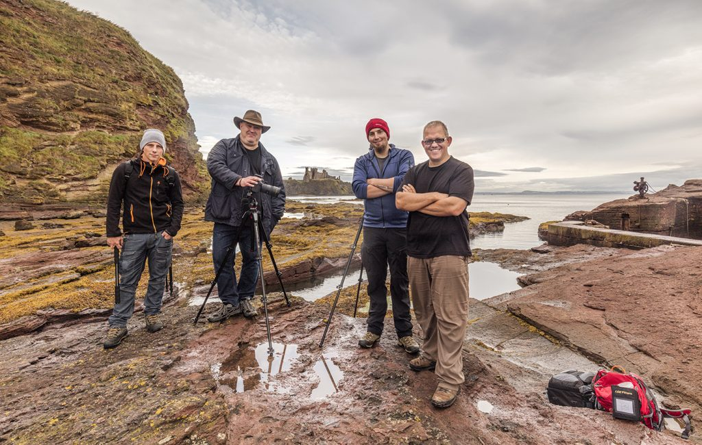 The Gang on location at Seacliff (Lee, Jonathan, Chris and my good self)