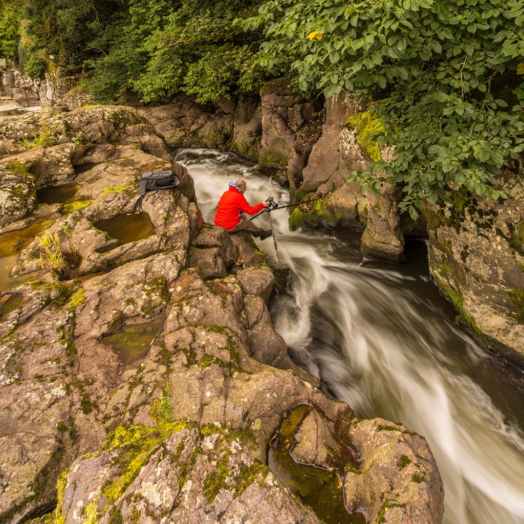 Me trying not to fall in at Linn Rocks, East Linton, East Lothian