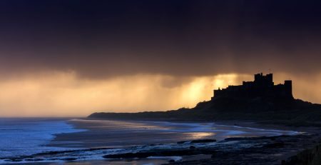 Stunning Sunrise Over Bamburgh Castle, Northumberland