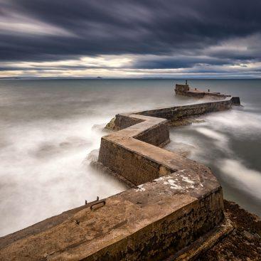 St Monans Breakwater, Fife, Scotland