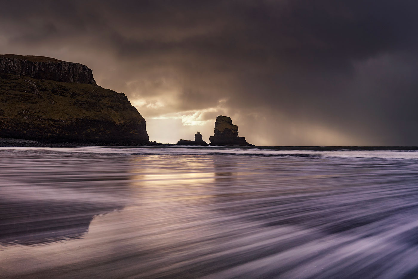 Stormy Skies, Talisker Bay, Isle of Skye, Scotland, UK