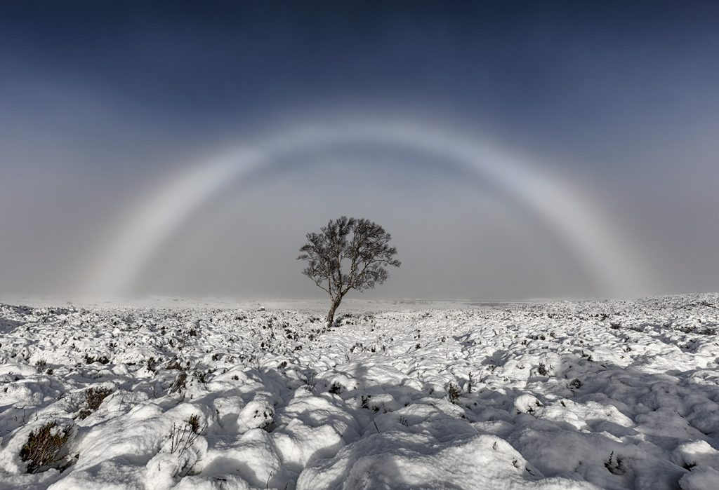 Fogbow, Rannoch Moor, Glencoe, Scotland, UK
