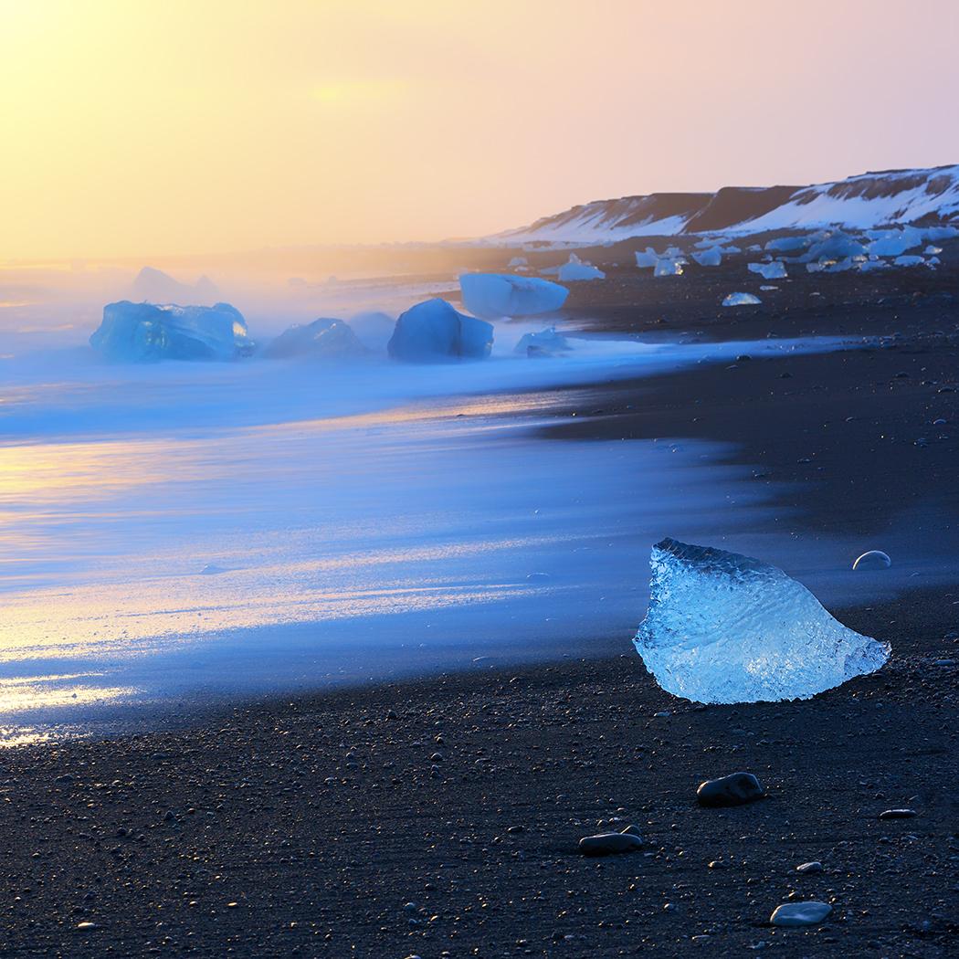 Icebergs, Jökulsárlón Beach, Iceland