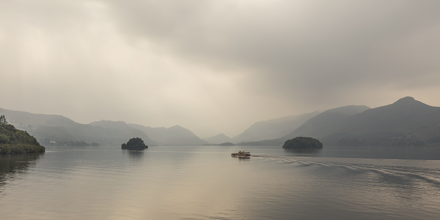 Wooden Steamer, Derwentwater, Lake District, UK