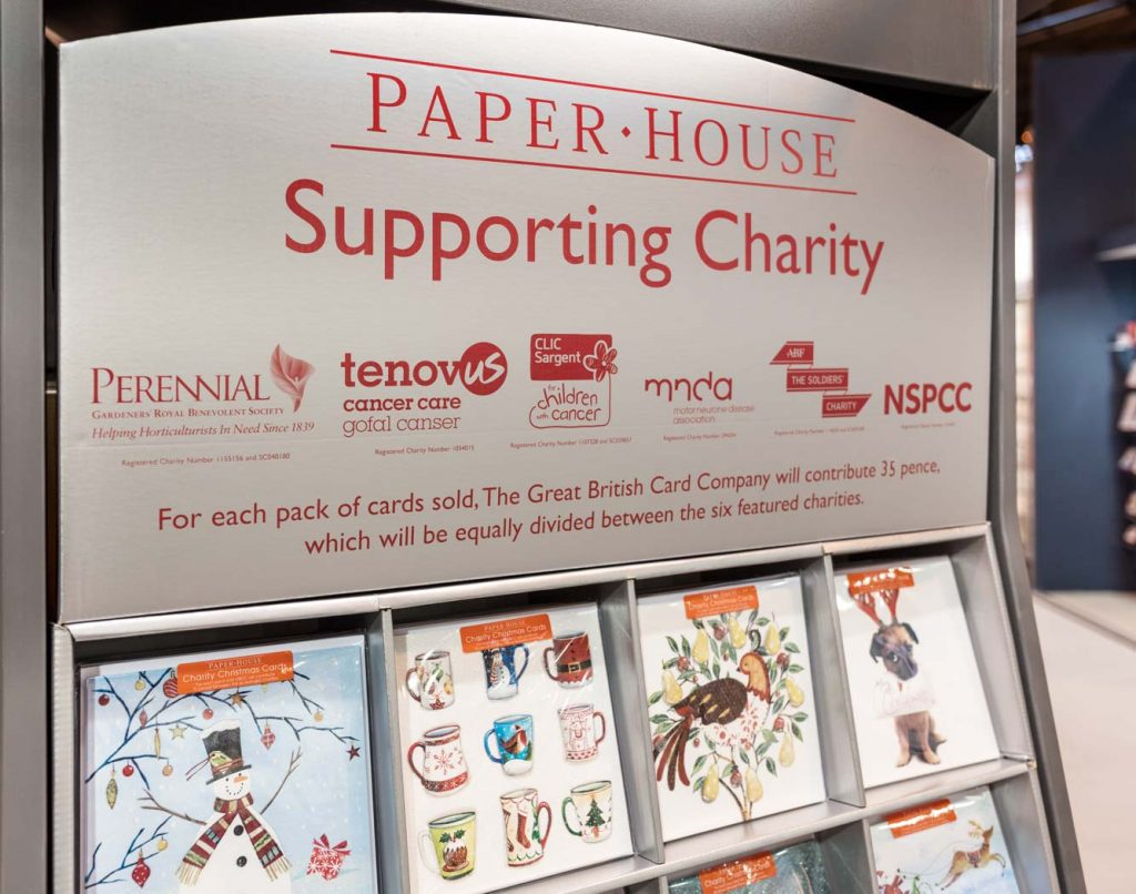 The Great British Card Company supporting charities