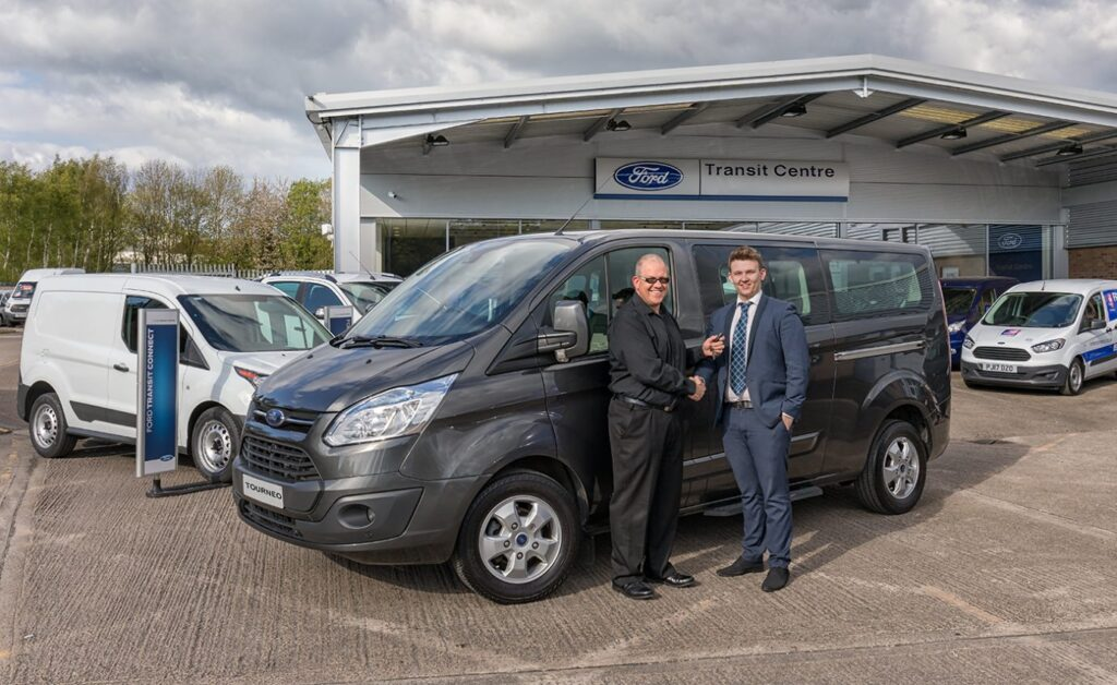 Taking delivery of my new Ford Tourneo