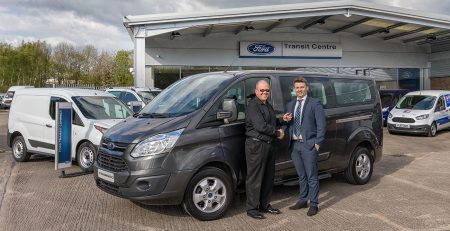 Taking delivery of my new 9 seater Ford Tourneo