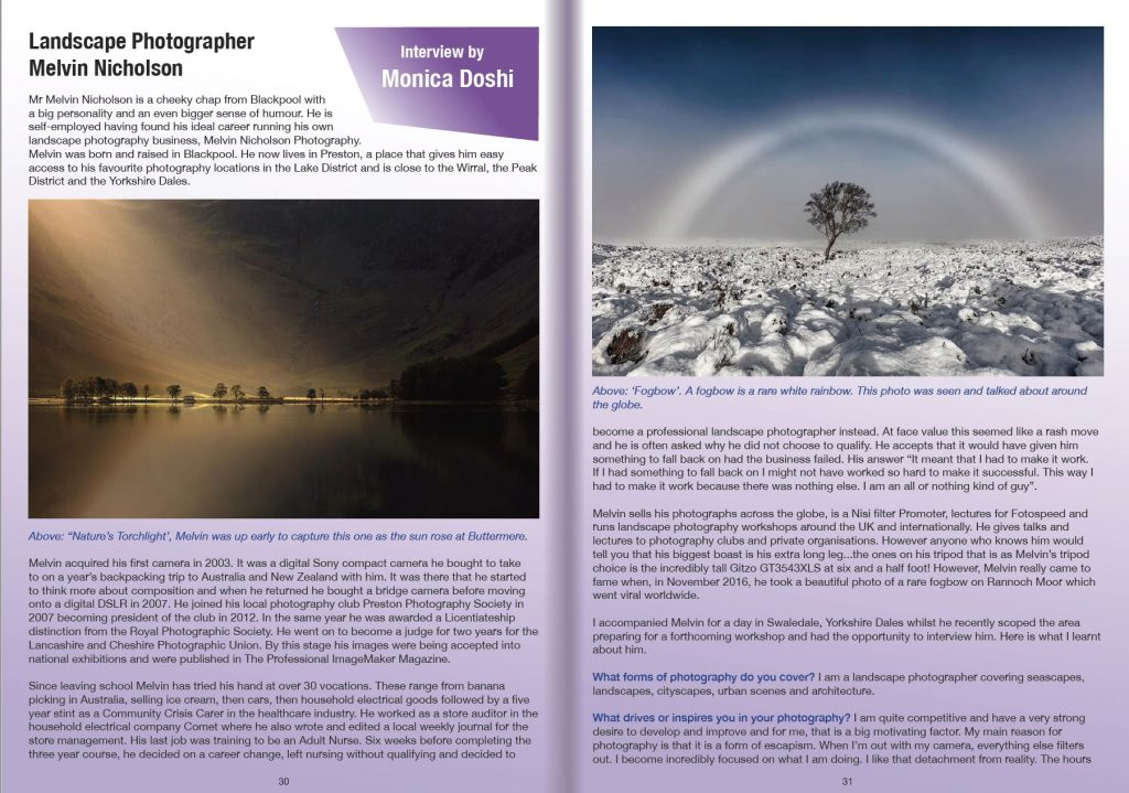 PHOTOTRAIN Photography Magazine Melvin Nicholson Photography Article