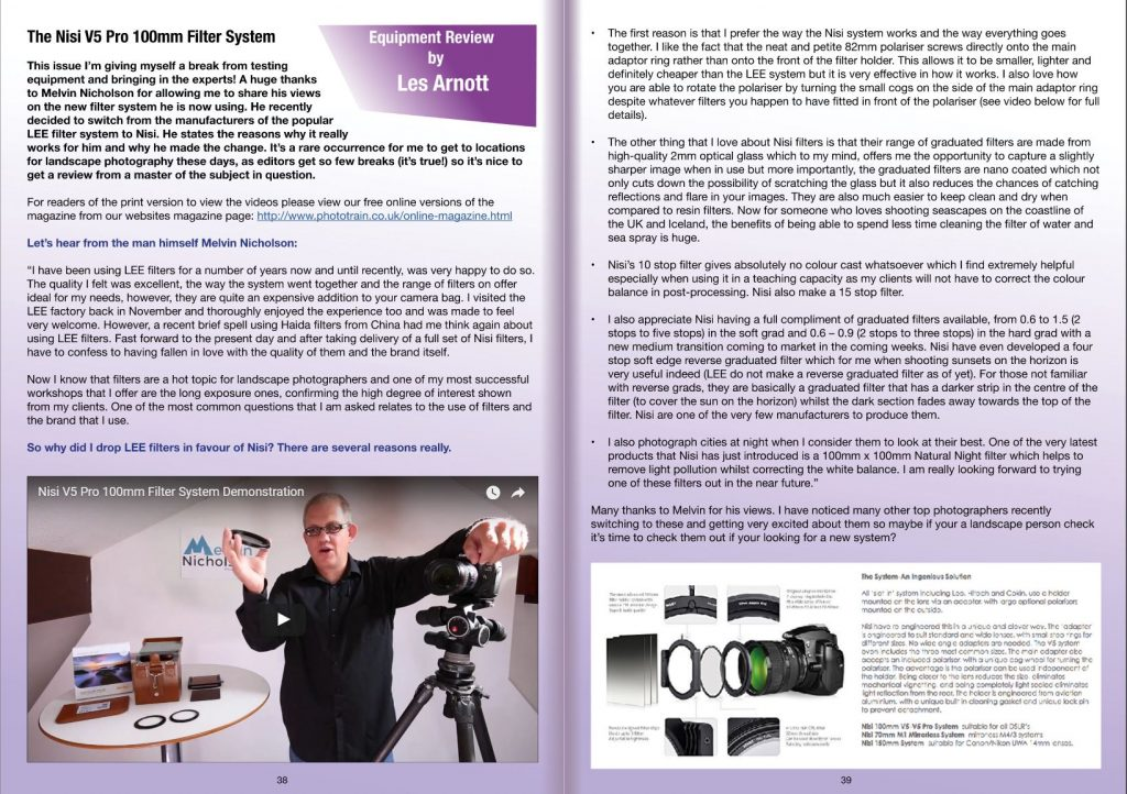 PHOTOTRAIN Photography Magazine Equipment Review