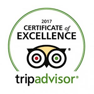 Tripadvisor Certificate of Excellence 2017 Melvin Nicholson Photography
