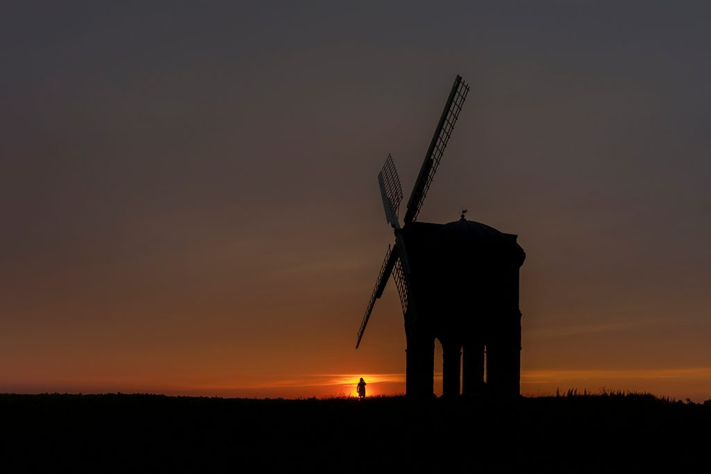 Glorious sunset at Chesterton Windmill, Warwickshire