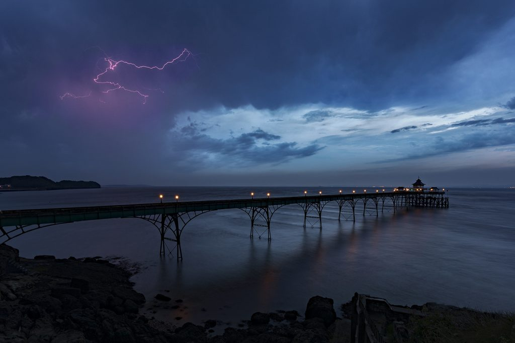 Lightning Storm over Clevedon Pier