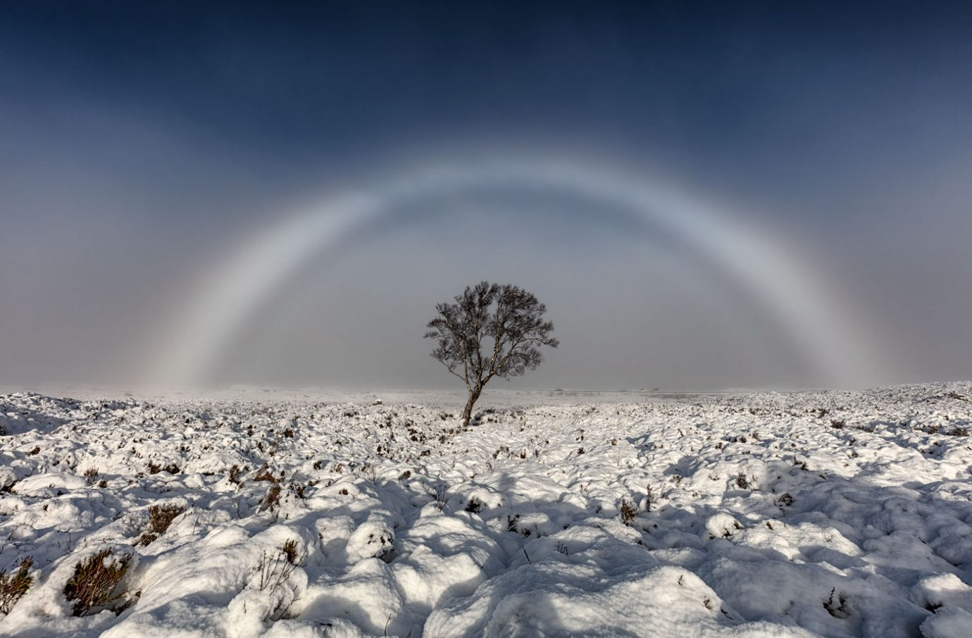 Fogbow, Rannoch Moor, Glencoe, Scotland