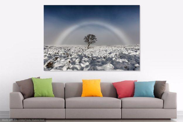 'Fogbow' Aluminium Print