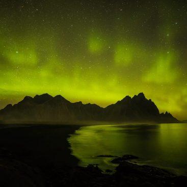Aurora Borealis, Vestrahorn, Hofn, Iceland