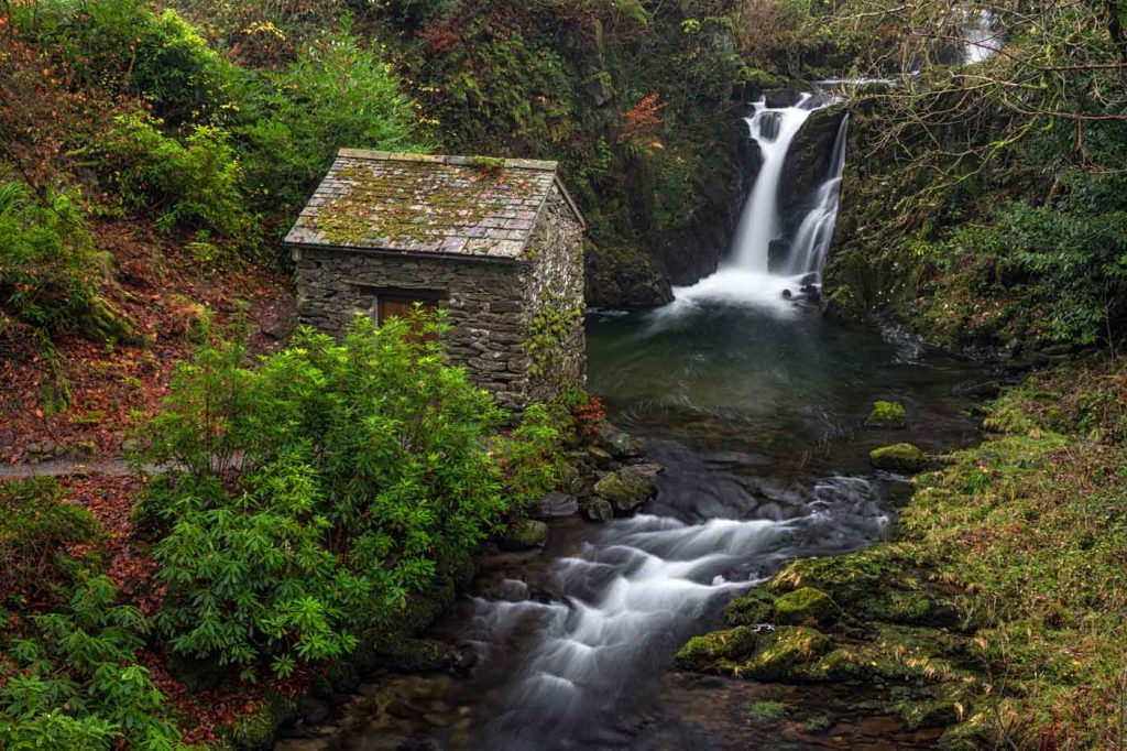 Rydal Falls and the Grotto, Lake District