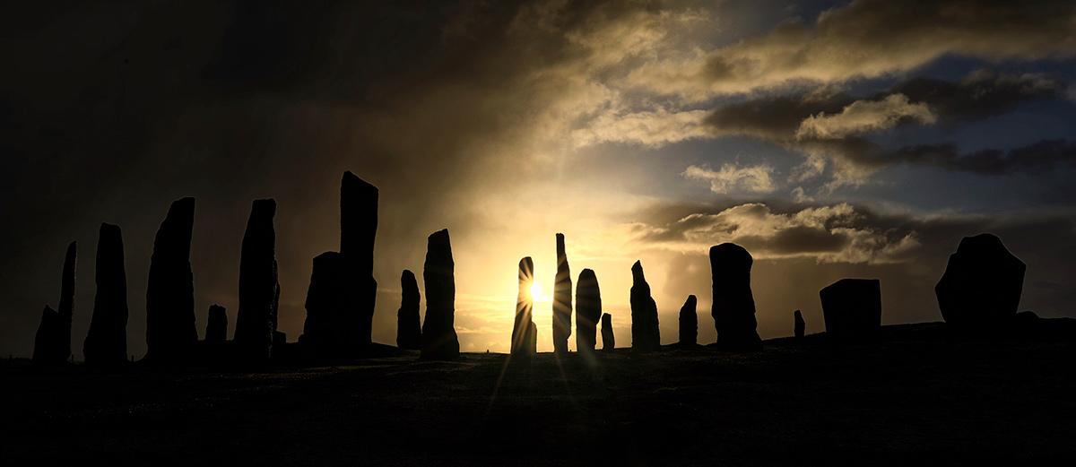 Stunning Starburst Sunrise, Callanish Stones, Isle of Lewis, Outer Hebrides, Scotland
