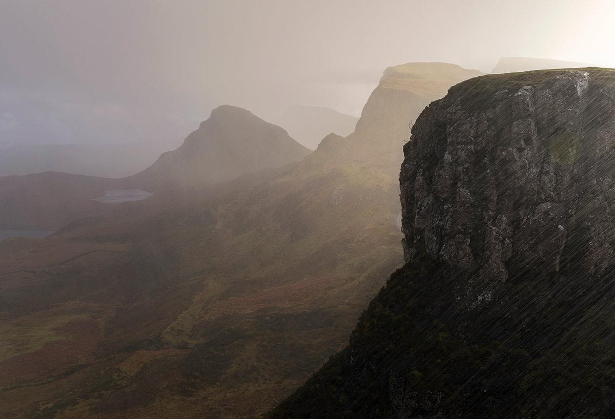 Torrential Rain, Trotternish, Isle of Skye, Scotland