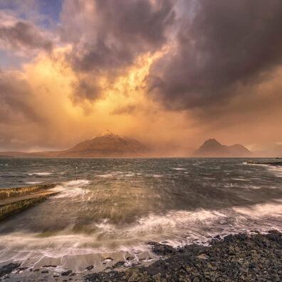 Fiery Sunrise, Black Cuillins, Elgol, Isle of Skye