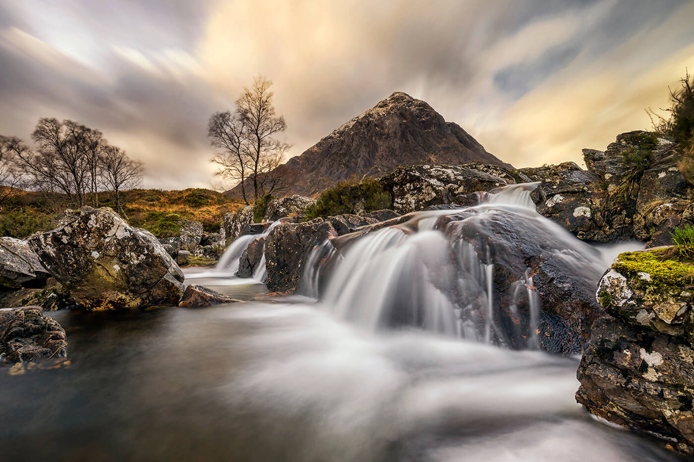River Coupall Waterfall, Rannoch Moor, Glencoe, Scotland