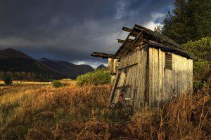 Wooden Shed, Glen Etive, Scotland