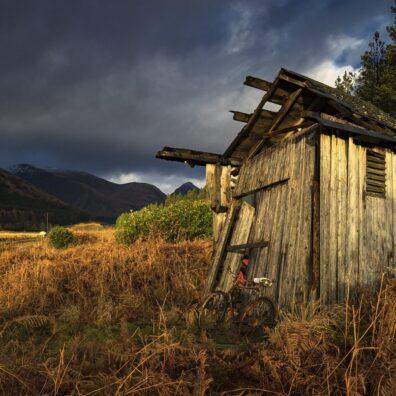 Wooden Shed, Glen Etive, Rannoch Moor, Glencoe, Scotland - Melvin Nicholson Photography