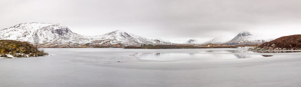 Frozen, Lochan na-h Achlaise, Rannoch Moor, Scotland