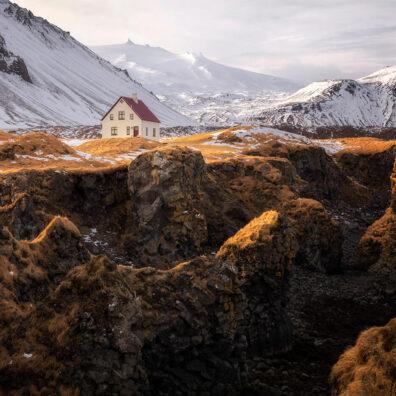 The White House, Arnarstapi, Snæfellsnes, Iceland