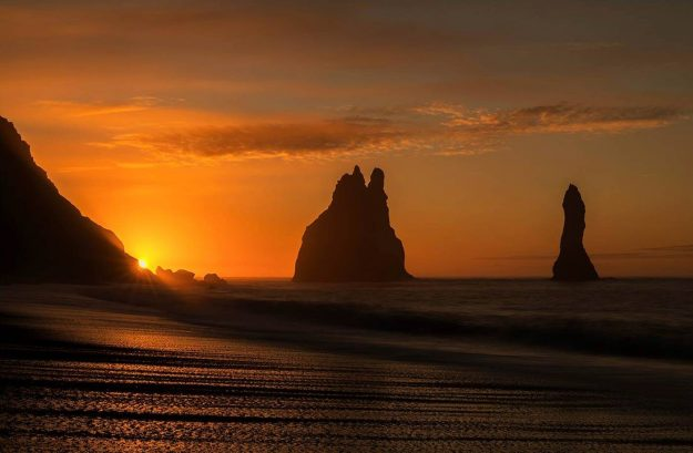 Sea Stacks, Reynisfjara Black Beach, Vik, Iceland
