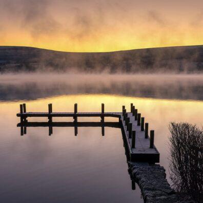 Misty Dawn, Ullswater Jetty, Lake District